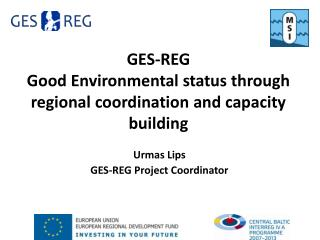 GES-REG Good Environmental status through regional coordination and capacity building
