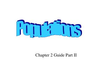 Chapter 2 Guide Part II
