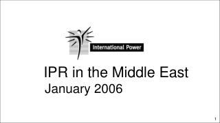 IPR in the Middle East