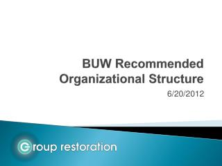 BUW Recommended Organizational Structure