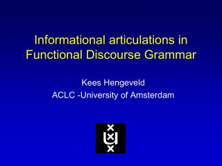 Informational articulations in  Functional Discourse Grammar