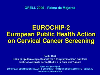 EUROCHIP-2  European Public Health Action on Cervical Cancer Screening