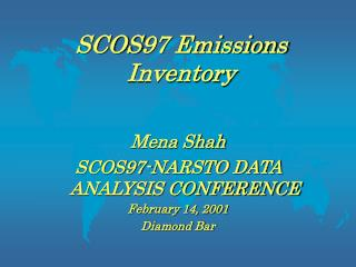 SCOS97 Emissions Inventory