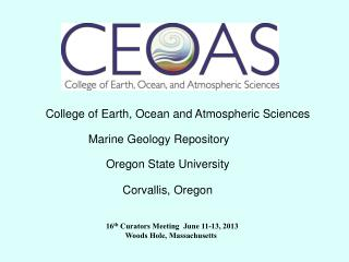 College of Earth, Ocean and Atmospheric Sciences