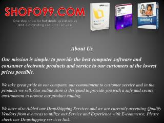 Computer Software and Consumer Electronics at Great Prices |