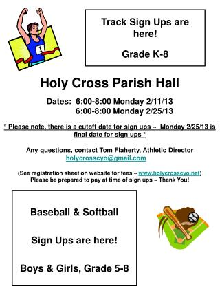 Track Sign Ups are here! Grade K-8