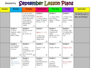 November Lesson Plans
