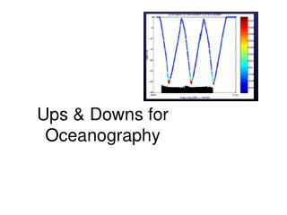 Ups & Downs for Oceanography