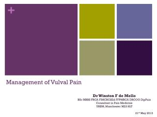 Management of  Vulval  Pain