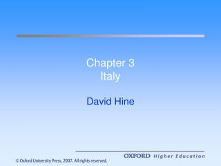 Chapter 3 Italy