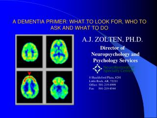 A DEMENTIA PRIMER: WHAT TO LOOK FOR, WHO TO ASK AND WHAT TO DO