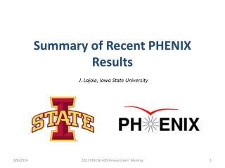 Summary of Recent PHENIX Results