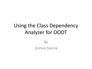 Using the Class Dependency Analyzer for OODT
