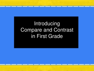 Introducing Compare and Contrast