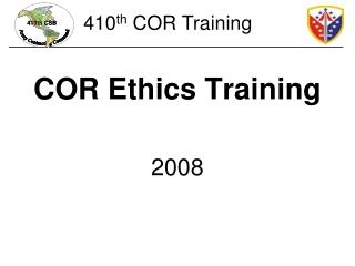 COR Ethics Training