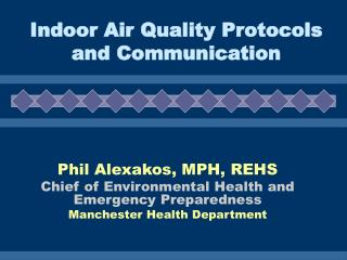 Indoor Air Quality Protocols and Communication