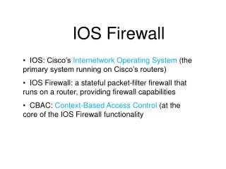 IOS Firewall