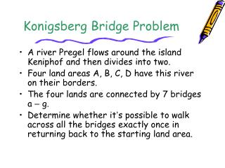 Konigsberg Bridge Problem