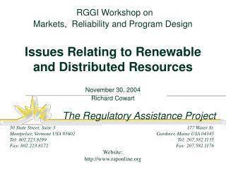 November 30, 2004 Richard Cowart