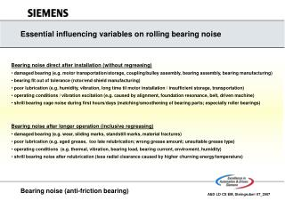 Bearing noise (anti-friction bearing)