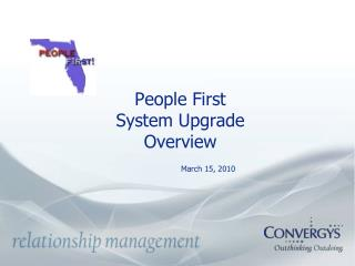 People First System Upgrade  Overview