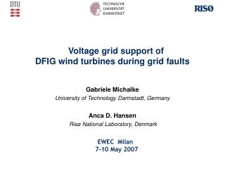 Voltage grid support of  DFIG wind turbines during grid faults