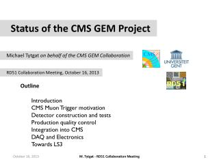 Status of the CMS GEM Project