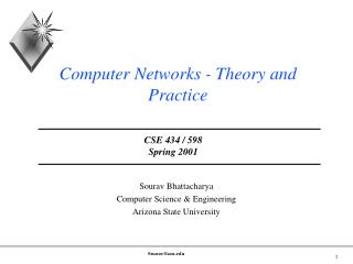 Computer Networks - Theory and Practice