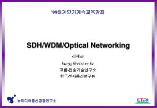 SDH/WDM/Optical Networking