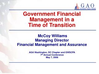 Government Financial Management in a  Time of Transition