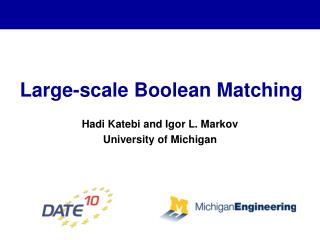 Large-scale Boolean Matching
