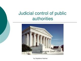 Judicial control of public                    authorities