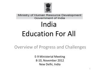 India Education  For  All