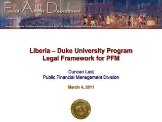 Liberia – Duke University Program Legal Framework for PFM