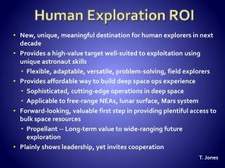 Human Exploration ROI