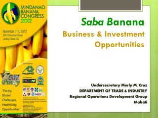 Saba B anana  Business & Investment Opportunities