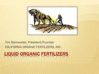 Liquid Organic Fertilizers