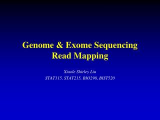 Genome & Exome Sequencing Read Mapping