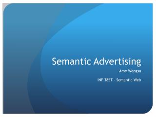 Semantic Advertising