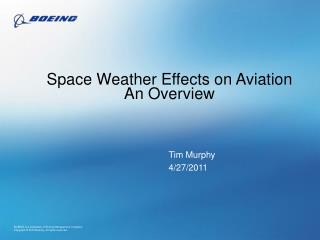 Space Weather Effects on Aviation An Overview