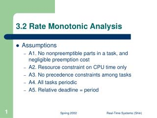 3.2 Rate Monotonic Analysis