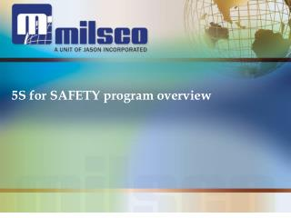 5S for SAFETY program overview