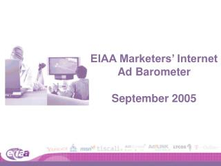 EIAA Marketers' Internet Ad Barometer September 2005