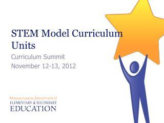 STEM Model Curriculum Units