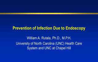 Prevention of Infection Due to Endoscopy