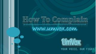 How To Complaint