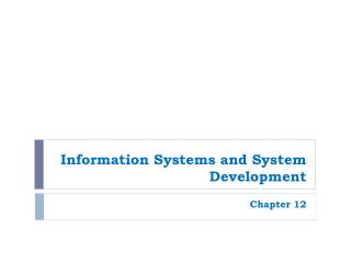 Information Systems and System Development