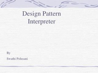 Design Pattern  Interpreter