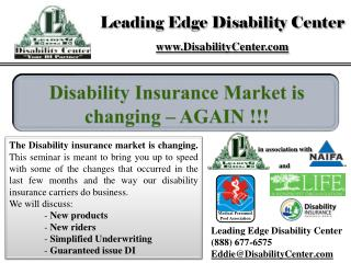 Leading Edge Disability Center (888) 677-6575 Eddie@DisabilityCenter
