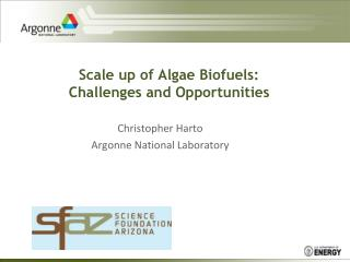 Scale up of Algae Biofuels:  Challenges and Opportunities